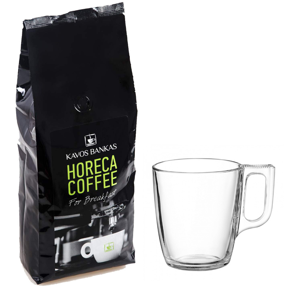 Прекрасный подарок кофеману, килограмм отменного кофе 100% арабика, и чашка в 250 мл в комплекте, лучше не бывает, проверено!