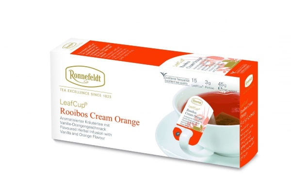 Ronnefeldt Leaf Cup Rooibos Cream Orange (ройбош крем оранж)-15 шт